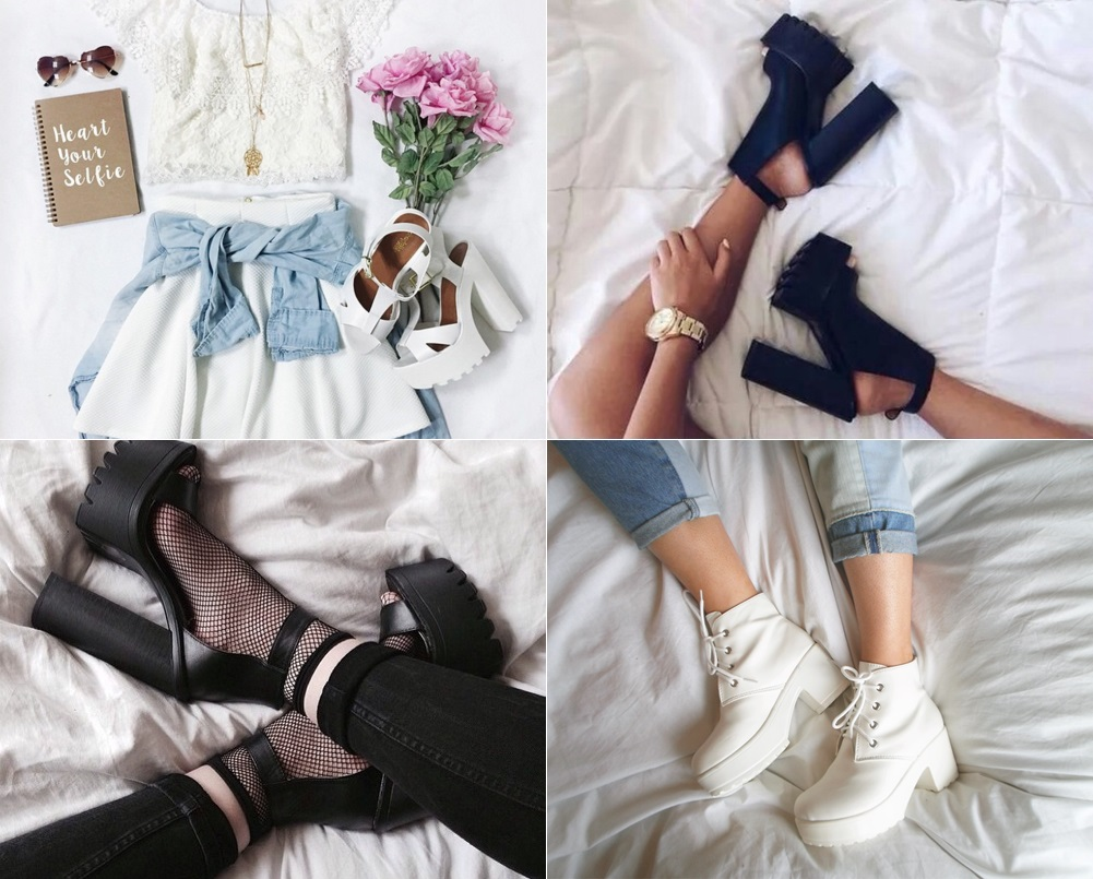 Resultado de imagem para sapatos tratorados tumblr