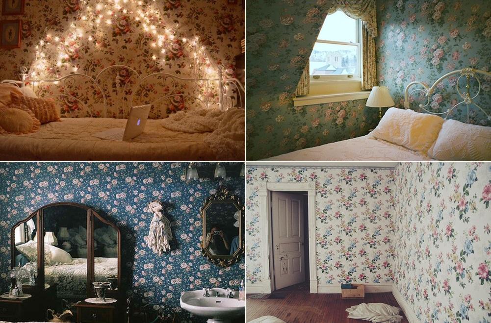 decoração-papel-de-parede-floral