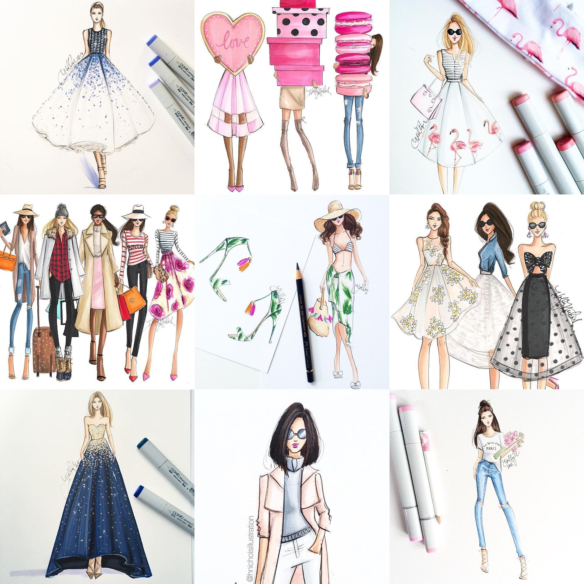 ilustração-moda-katie